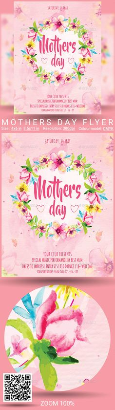Buy Mothers Day Flyer by oloreon on GraphicRiver. Mothers Day Flyer Size: inch + in bleed inch + in bleed Description: All text full editable Read. Dj Party, Party Flyer, Fitness Flyer, Flyer Size, Restaurant Flyer, Christmas Flyer, Event Flyer Templates, Corporate Flyer, Getting Things Done