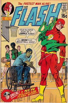 Items similar to The Flash No. 201 - 1970 - New Golden Age Flash Story - DC Comics Comic Book on Etsy Flash Comic Book, Dc Comic Books, Vintage Comic Books, Vintage Comics, Comic Book Covers, Comic Art, Comic Pics, Dc Comics, Flash Comics