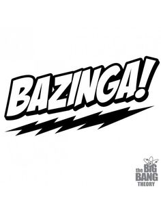Bazinga Big Bang Vinyl Die Cut Decal window Car Laptop Sticker Pet Love Bumper