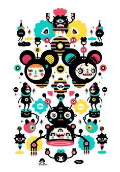 "Curioos.com   ""Muxxi & Yema Yema"" by Muxxi (Guatemala) - http://pinterest.com/curioos"