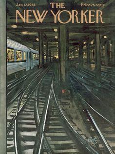 Arthur Getz : Cover art for The New Yorker 1978 - 12 January 1963
