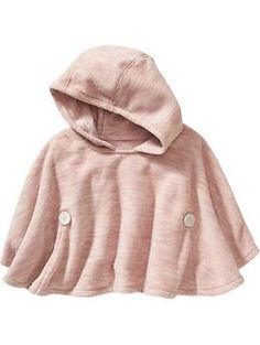 Performance Fleece Hooded Poncho for Baby Product Image Fleece Poncho, Hooded Poncho, Stella Fashion, Toddler Girl Outfits, Toddler Girls, Winter Photos, Little Fashionista, Girls Sweaters, Maternity Wear