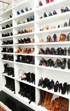 A shoe closet...for a major shoe fetish.