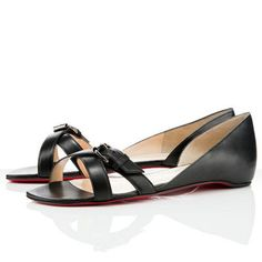 9619cbbc996 Christian Louboutin Atalanta Leather Flat Black Red Bottom Shoes Mens New  Years Eve Outfit Black Flats