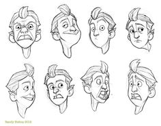 Character reference sheet by Randy Bishop. http://randybishopart.blogspot.com/