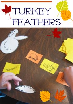 playing turkey feathers: matching beginning sounds | #weteach #reading