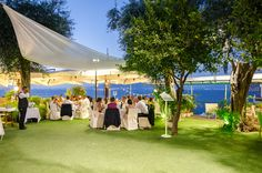 Foreigner's Club Sorrento. Perfect outdoor wedding reception.