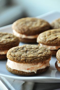Ginger Cookie Sandwiches with Orange Buttercream