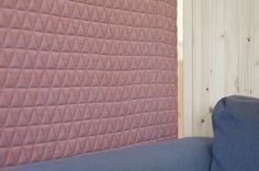 Detail Chill Area Office PON Tilburg, Netherlands by WIES | bureau voor ruimtelijk ontwerp #office #interiordesign #color #febrikfabrics #couch #wood