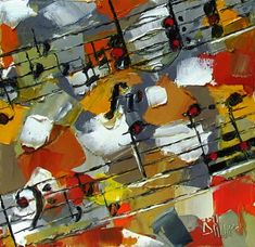 Resumen de música clásica pintura pinturas arte por Debra Hurd, pintura original del artista Debra Hurd   DailyPainters.com