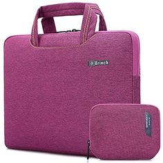 Brinch 15 Waterproof Laptop Case Bag with Handle for Apple Macbook Chromebook Acer Asus Dell Fujitsu Lenovo HP Samsung Sony Toshiba Purple * Find out more about the great product at the image link. Laptop Pouch, Laptop Messenger Bags, Laptop Briefcase, Laptop Backpack, Black Backpack, Briefcase Women, Laptop Bag For Women, Backpack Reviews, Best Laptops