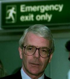 Always pay attention to what's in the background of a photo. This picture of John Major, taken during the 1997 election campaign, contains a message about his political future. He lost the election.