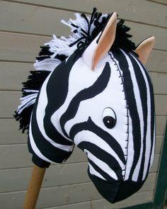 Stick Horse Zebra on RusticHorseShoe's etsy shop.