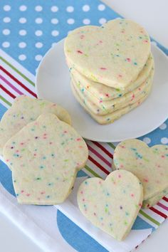 This recipe for Sprinkle Sugar Cookies is perfect for cut-out cookies and adds a bit of whimsy to any cookie decorating project! (Baking Treats For Kids) Cookie Desserts, Just Desserts, Delicious Desserts, Dessert Recipes, Dessert Bars, Cookie Flavors, Sugar Cookies Recipe, Yummy Cookies, Sugar Cookie Recipe With Butter