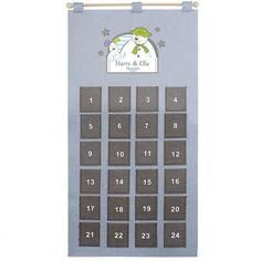 Personalised Silver Grey Advent Calendar - The Snowman Felt Advent Calendar, Advent Calendars, Snowman And The Snowdog, Special Symbols, Calendar 2020, Christmas Countdown, Brand Names, Texts, Unique Gifts