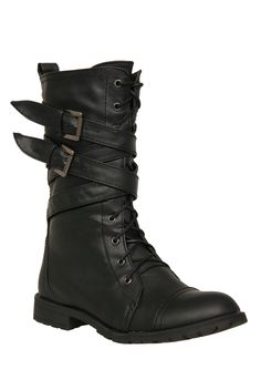 Black X Lace-Up Boots   Hot Topic