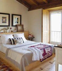 Dormitorio cálido y acogedor