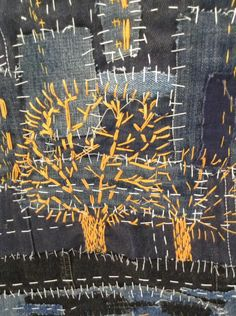 antique japanese embroidery on silk Sashiko Embroidery, Japanese Embroidery, Hand Embroidery Patterns, Embroidery Art, Embroidery Stitches, Machine Embroidery, Embroidery Designs, Embroidery Scissors, Art Fibres Textiles