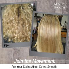 Kenra Smooth® will leave your hair so shiny and frizz-free, you'll be addicted after just one treatment!  Image by stylist Michele Pal.
