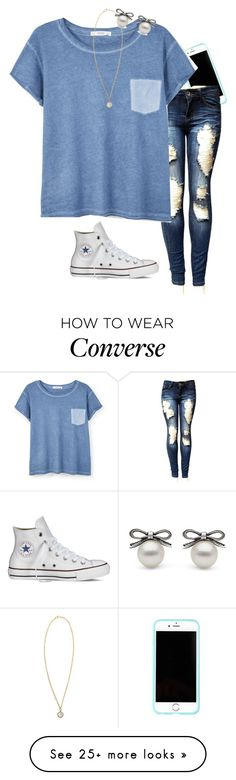 """Goodnight ❣"" by briannanmayer on Polyvore featuring Lilly Pulitzer, MANGO, Converse and Irene Neuwirth"