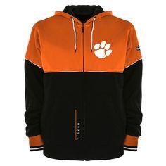 Men's Franchise Club Clemson Tigers Shield Reversible Hooded Jacket, Size: Small, Orange