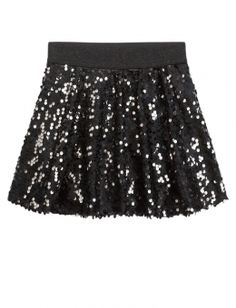 Shop Sequin Skater Skirt and other trendy girls skirts clothes at ...