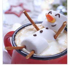Marshmallow , hot chocolate fun.