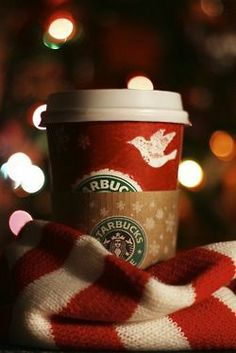 starbucks at christmas :)