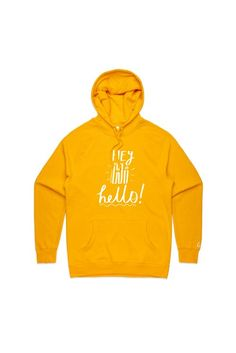 Hey Hi Hello Unisex Hoody (Multiple Colors available) by Georgia Productions Youtuber Merch, Youtubers, Cute Teen Outfits, Outfits For Teens, Georgia Productions, Vegetable Animals, Really Cute Puppies, New Funny Memes, Birthday Brunch