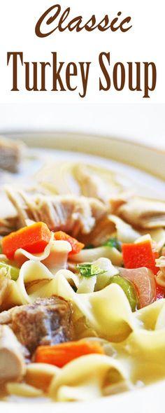 Mom's Turkey Soup Recipe   SimplyRecipes.com