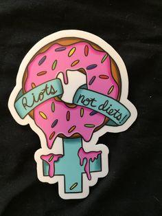 Riots Not Diets! Venus Sticker