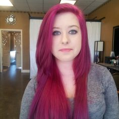 Magenta hair by Cindy