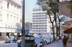Saigon 1965 - Hotel Continental (left) and Hotel Caravelle by manhhai, via Flickr