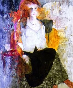 Girl in Black Silk Skirt by Shirley Trevena
