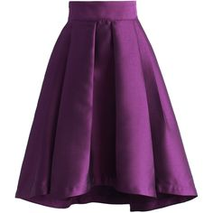 Chicwish Purple Pleated Waterfall Skirt (170 PLN) ❤ liked on Polyvore featuring skirts, saias, bottoms, purple, pleated skirt, chicwish skirt, waterfall skirt, crop skirt and knee length pleated skirt
