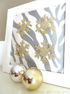 DIY Snowflake Art for the holidays