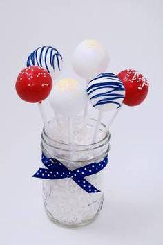 4th of July Cake Balls