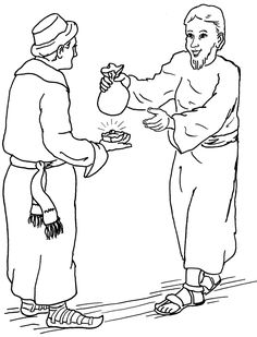 Free coloring pages of parables