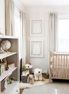 Blush and Grey Nursery. These parents were going for a really soft calming and neutral nursery and they achieved it exquisitely! Baby Bedroom, Baby Room Decor, Nursery Room, Girl Nursery, Girls Bedroom, Nursery Decor, Nursery Ideas, Room Baby, Baby Rooms
