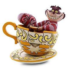 Disney Alice In Wonderland Cheshire Cat Mad Tea Party Statue Jim Shore Enesco Hades Disney, Deco Disney, Disney Love, Disney Dream, Disney Style, Mad Tea Parties, Tea Party, Disney Figurines, Disney Statues