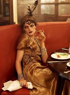 'Autumn in Paris': Vogue US, September 2007.  Guinevere van Seenus photographed by Steven Meisel.