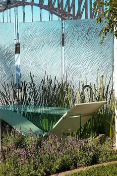 Glass panels!!! Sydney In Bloom 2005 - Gold Medal Winner   Show Gardens Landscaping Project - Rolling Stone Landscapes