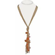 Long Carnelian and Rose Quartz Multi Strand Necklace - Devon Leigh Design