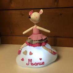 Veilleuse Lilibelle en porcelaine froide de Patapascale