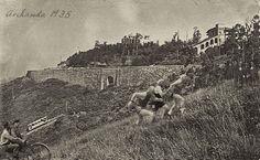 Subida Popular celebrada en 1935 con motivo del 20 Aniversario del Funicular de Artxanda.