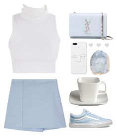 """""""The blues of your eyes..."""" by soygabbie ❤ liked on Polyvore featuring Crate and Barrel, Yves Saint Laurent and Vans"""