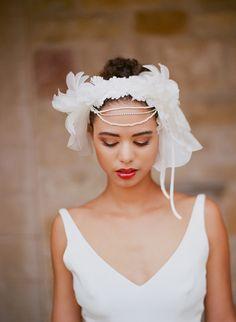 stunning wedding hair piece. Image by Elizabeth Messina