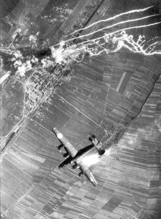 The cost of war: B24 Final Approach crashes to earth a month before the war's end. One man died and eight crew were taken prisoner.