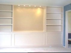 Step-by-step instructions for constructing built-in bookcases from HGTV.com