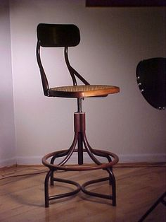 DECO bentwood style INDUSTRIAL HIGH CHAIR  $375.00